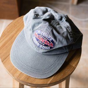 Gray Vintage Honda Logo Baseball Trucker Cap Hat